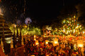 New year festival, Thai people floating lamp in Phan Tao Temple, Thailand