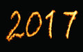 New Year 2017 Fire Royalty Free Stock Photo