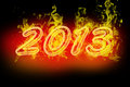New year fire numbers Stock Photo