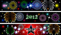 New Year Firework Banners Royalty Free Stock Photo