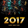 New Year 2017 firework explosion design Royalty Free Stock Photo
