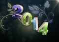 New year floral background for incoming Royalty Free Stock Images