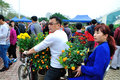 New year flowers in zhuhai flower market the photo was taken as Stock Images