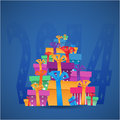 New year gift boxes celebration card origami paper Royalty Free Stock Photos