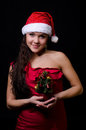 New year girl Royalty Free Stock Photography