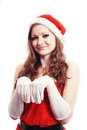 New year girl posing as a rabbit Stock Photography