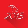 New Year 2015 Goat Logo Symbol...