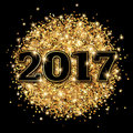 New Year 2017 Greeting Card Bl...