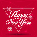 New Year Greeting Card. Happy New Year 2016, vector illustration Royalty Free Stock Photo