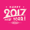 New Year greetings on a pink