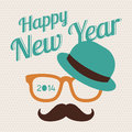 New year hipster greeting card about style Stock Images