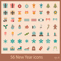 New Year icons Stock Images