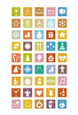 New year icons holiday set Royalty Free Stock Photography