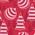 New Year and Marry Christmas seamless pattern Stock Photography