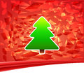 New year and merry christmas postcard abstract design of with tree on red background Royalty Free Stock Images