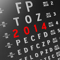 New year new vision abstract eye chart background design concept Stock Image