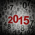 New year numbers on grunge background Royalty Free Stock Images