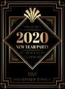 2019 New Year Party Art Deco Style Invitation Design