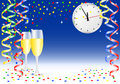 New year party background vector illustration of a Stock Photos