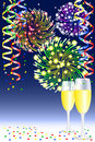New year party background vector illustration of a Stock Photography