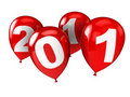 New year party balloons Stock Image