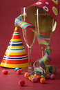 New year party and champagne Royalty Free Stock Image