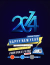 New year party flyer poster cover template Royalty Free Stock Photo