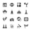 New year party icon set 2, vector eps10