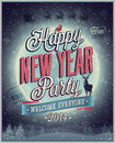 New year party poster vector illustration Royalty Free Stock Photo