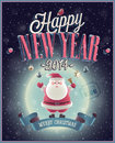 New year poster with santa vector illustration Stock Photography