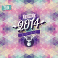 New year poster vector illustration Stock Images