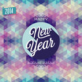 New year poster vector illustration Stock Photography