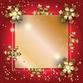 New Year XMAS decoration gold frame