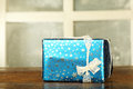 New year present in box Royalty Free Stock Photo
