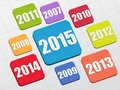 New year 2015 Royalty Free Stock Photo