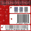New year price tags illustration Stock Images