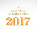 2017 New Year Redolutions Gold...