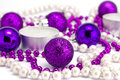 New Year's background from toys and a beads Royalty Free Stock Photos