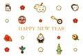 New Year's card, mascot