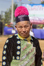 New year s hmong tribes chiang mai thailand jan unidentified female wearing traditional clothes in the celebrate on january Royalty Free Stock Photos