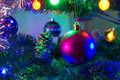 New year s lights iluminating and smoothing Royalty Free Stock Photos