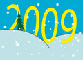 New Year's numbers over snowdrifts Royalty Free Stock Photos