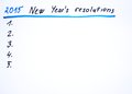 New year s resolutions handwritten sketch Royalty Free Stock Photos