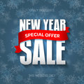 New Year sale badge, label, promo banner template. Special offer