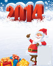 New year and santa with gifts christmas decoration ready for your message Stock Photos