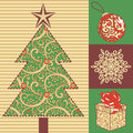 New year set vector christmas Royalty Free Stock Photography