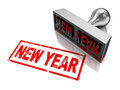 New year stamp Stock Image