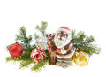 New Year still life with a candy of Santa Claus Royalty Free Stock Images