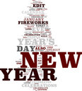 New Year tag cloud Stock Photography