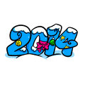 New year text cartoon illustration design fantasy Royalty Free Stock Images